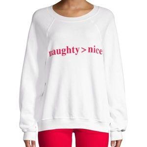Wildfox Naughty Nice Sweatshirt NWT SZ M